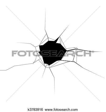 Clipart of Bullet hole clip art graphic k1397141.