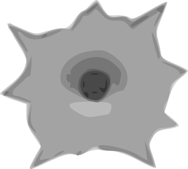 Bullet Hole clip art Free vector in Open office drawing svg ( .svg.