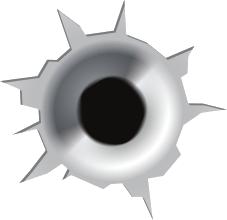 Bullet hole clipart #11