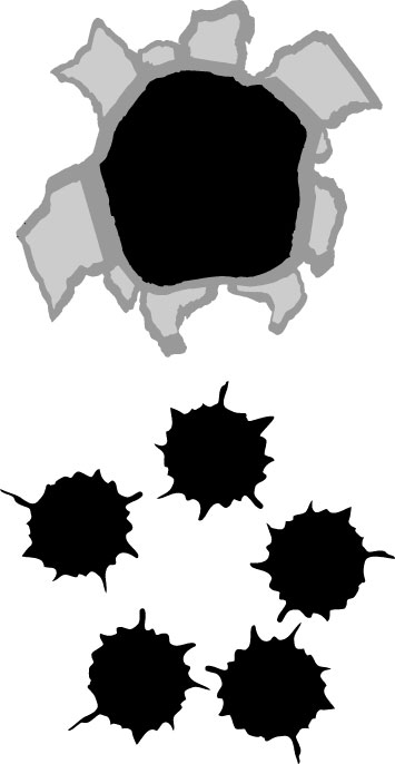 Bullet Hole Clipart.