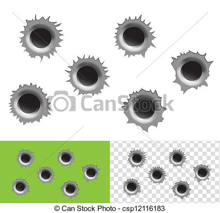 Bullet hole Clip Art Vector Graphics. 695 Bullet hole EPS clipart.