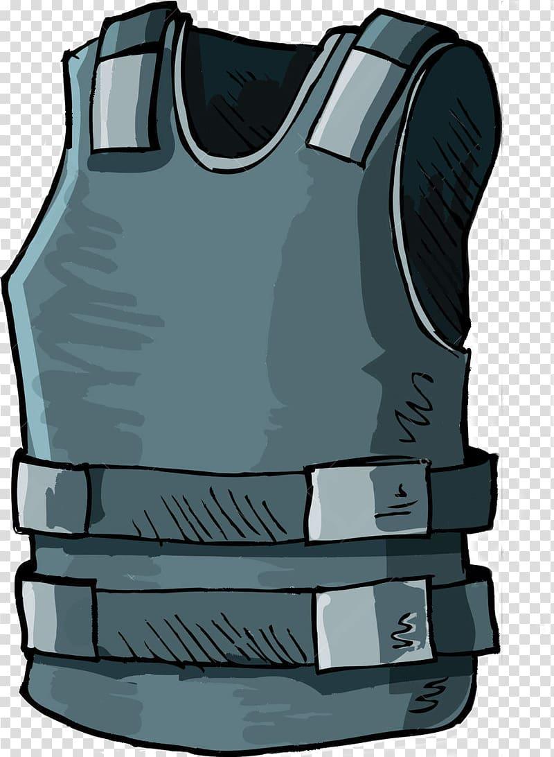 Bulletproof vest transparent background PNG clipart.