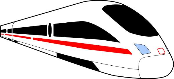 Bullet train clip art.