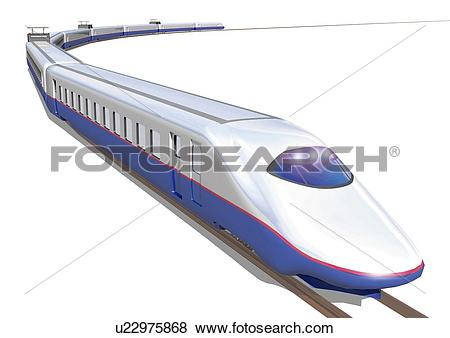 Stock Illustration of Image of a Long, Blue.