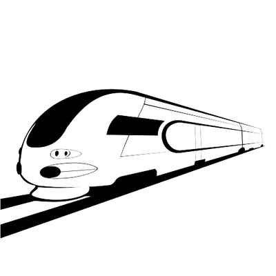 Bullet train clipart.