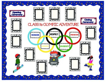 Olympic Bulletin Board Theme.