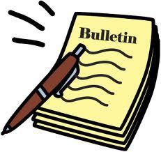 Bulletin Clipart.