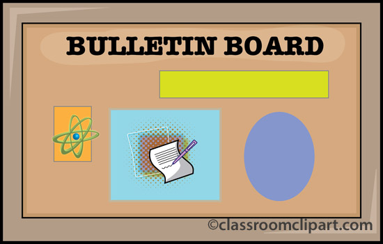 School Bulletin Board Clipart.