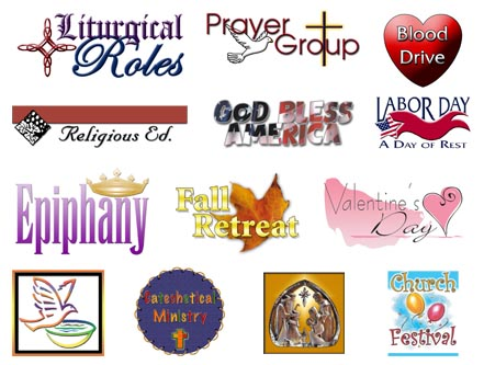 Clip art for church bulletins.