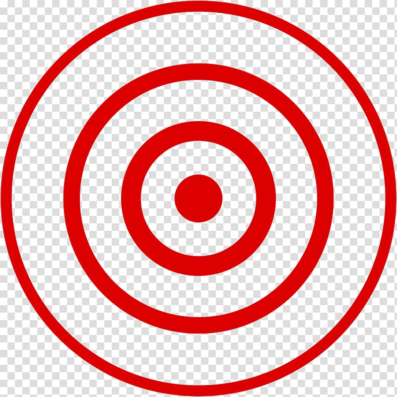 Bullseye Shooting target , Eye transparent background PNG.