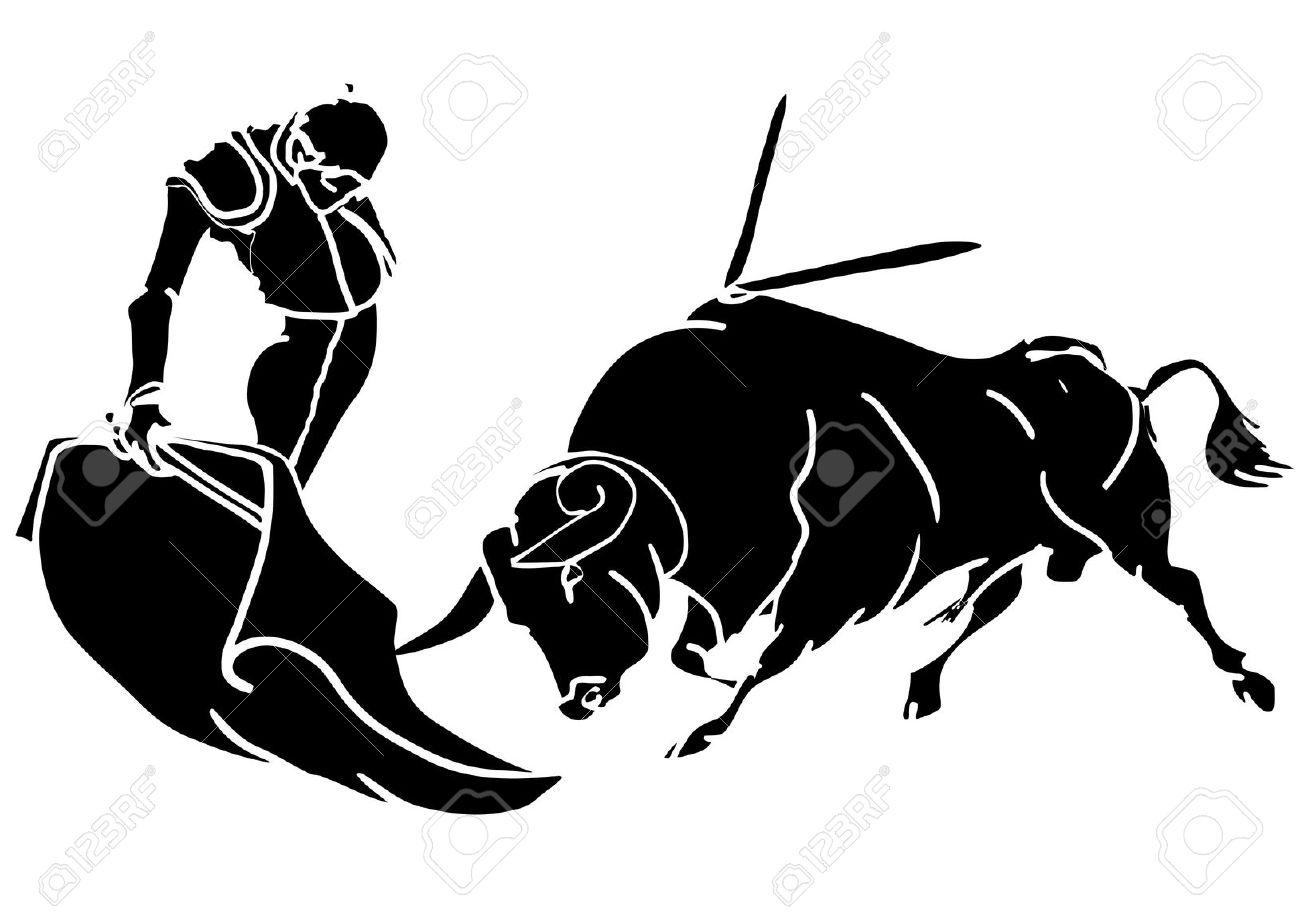 Bull Fighting Clip Art.