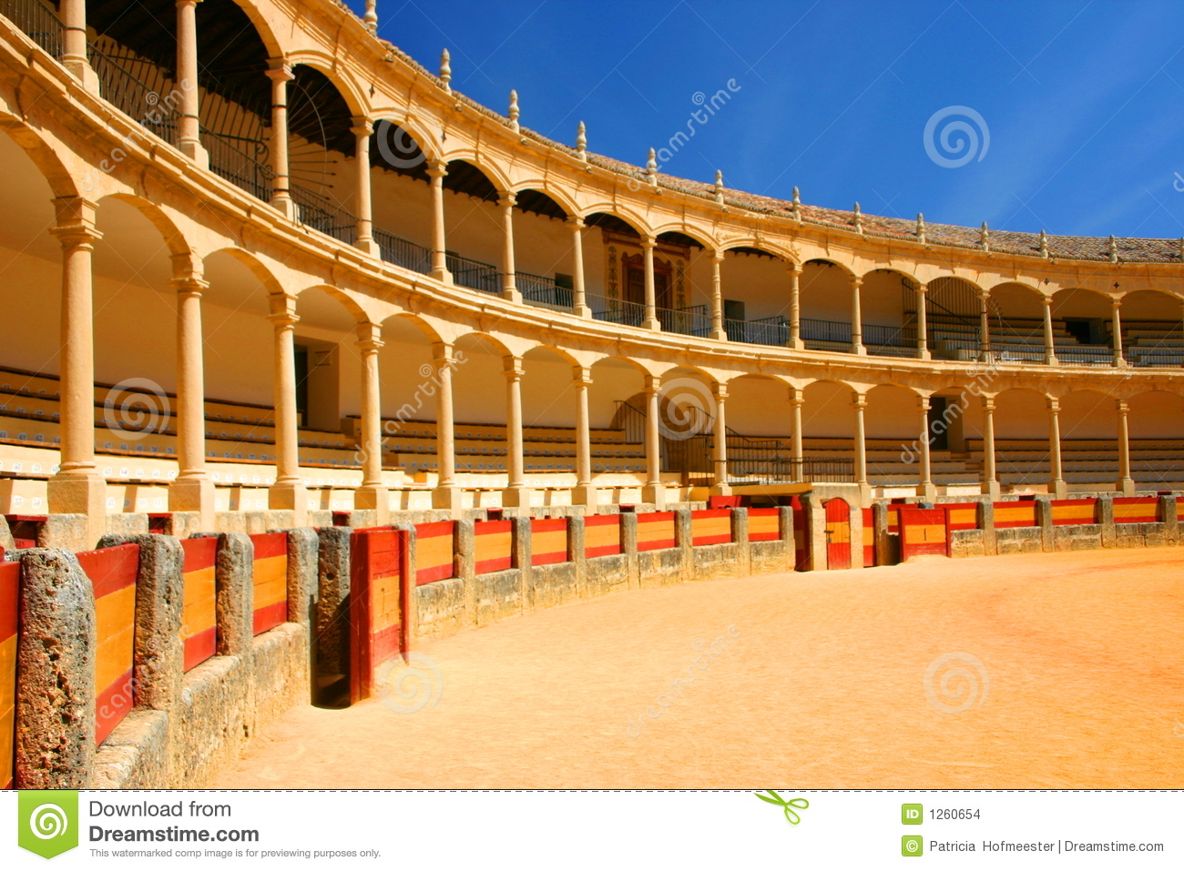 Bull Fighting Arena Ronda Stock Images.