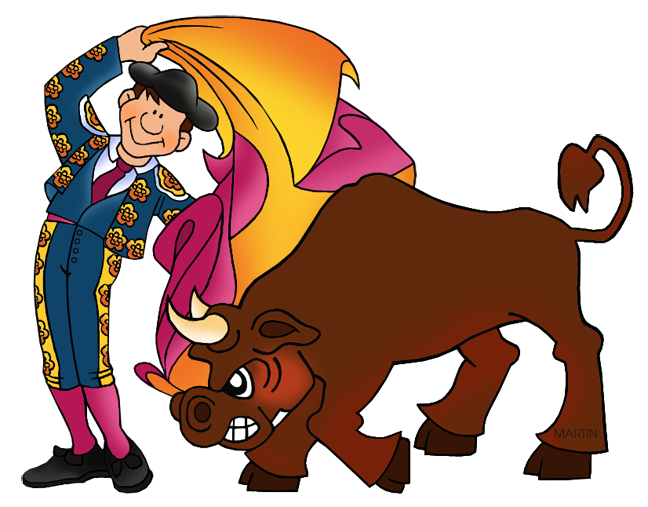 Bull fighting clipart - Clipground