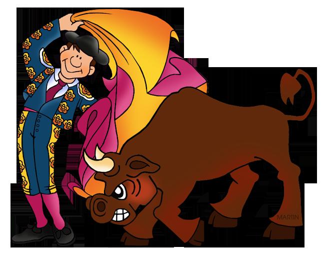 Clip art of bullfighting.