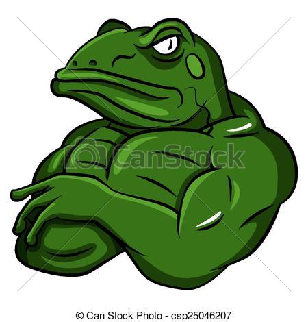Bullfrog Clip Art Vector Graphics. 322 Bullfrog EPS clipart vector.