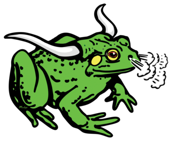 Cartoon Bullfrog.
