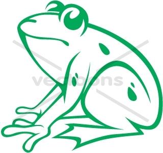 Creative American bullfrog whole body.