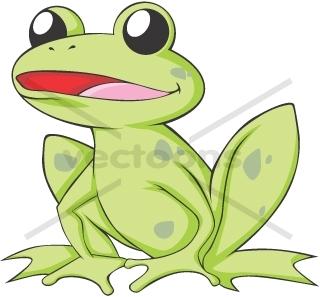 Happy American Bullfrog smiling.