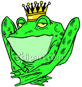 Angry bullfrog clipart.