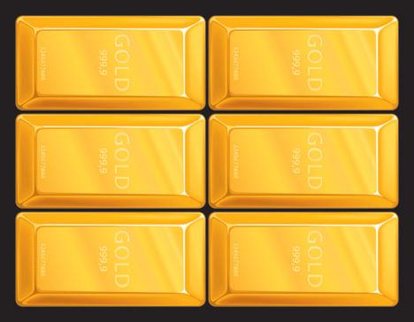 Gold Bullion Vector clip arts, free clip art.