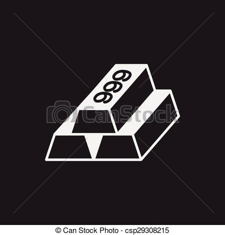 Vector Clip Art of Gold bullion icon csp29308215.