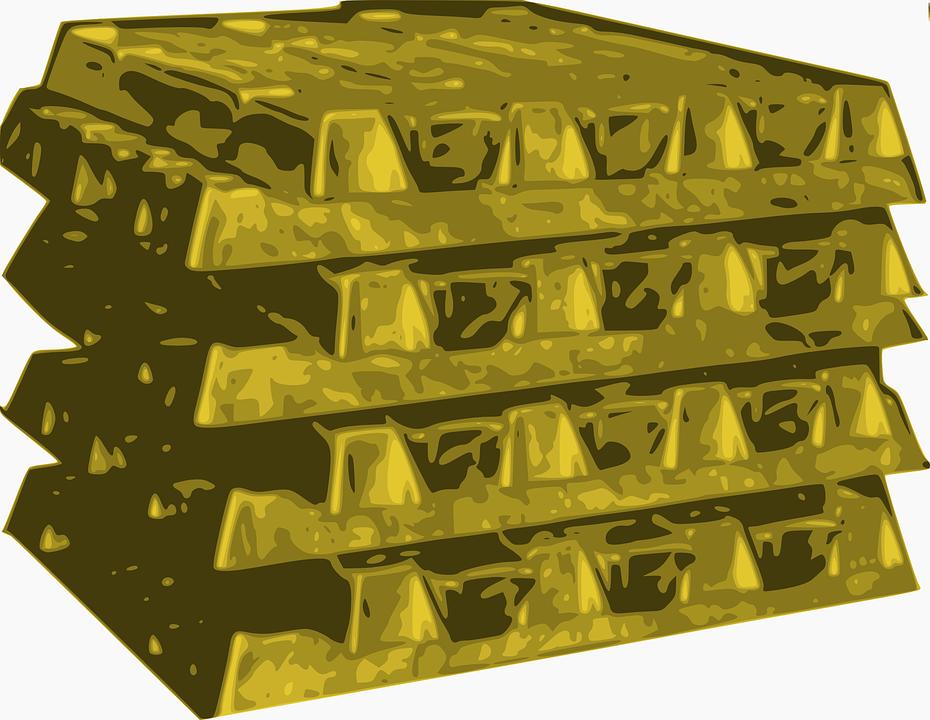 Free vector graphic: Gold, Bullions, Gold Bars.