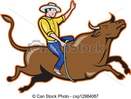 Bull riding Clip Art Vector Graphics. 232 Bull riding EPS clipart.