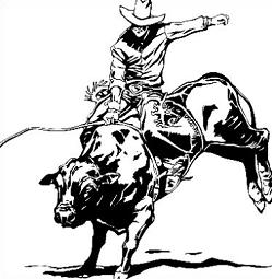 Rodeo Bull Riding Clipart.