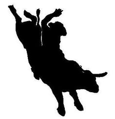 Woman riding bull horse bullet clipart.