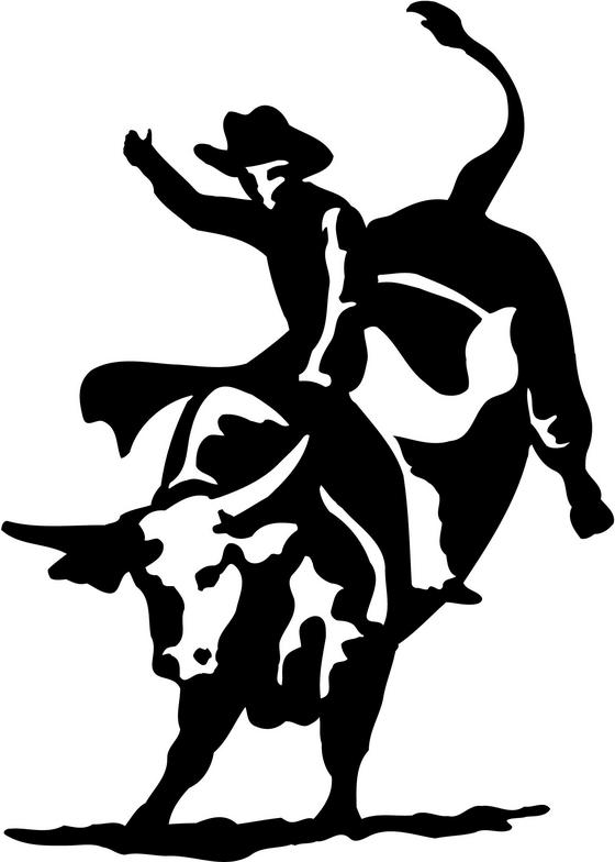 Bull riding clip art.