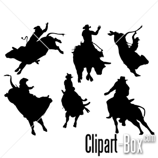 Bull Riding Pdf Clipart.