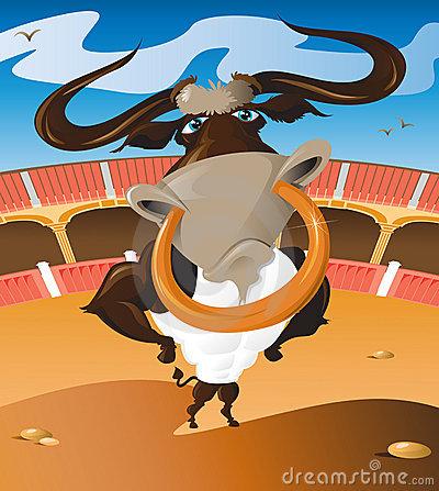 Cartoon Bull Nose Ring Stock Illustrations.