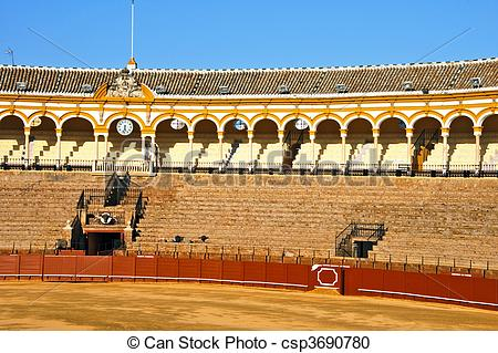 Stock Photography of Seville bullring.