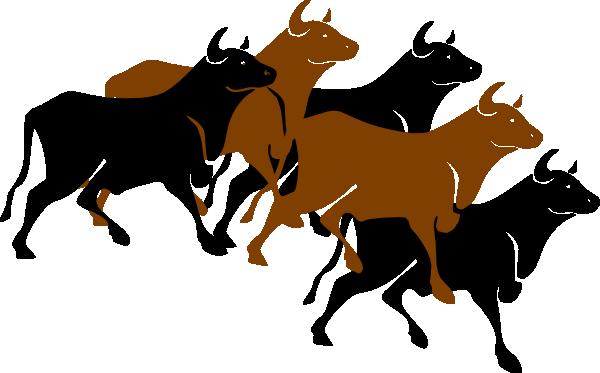 Bull Stampede Clip Art at Clker.com.