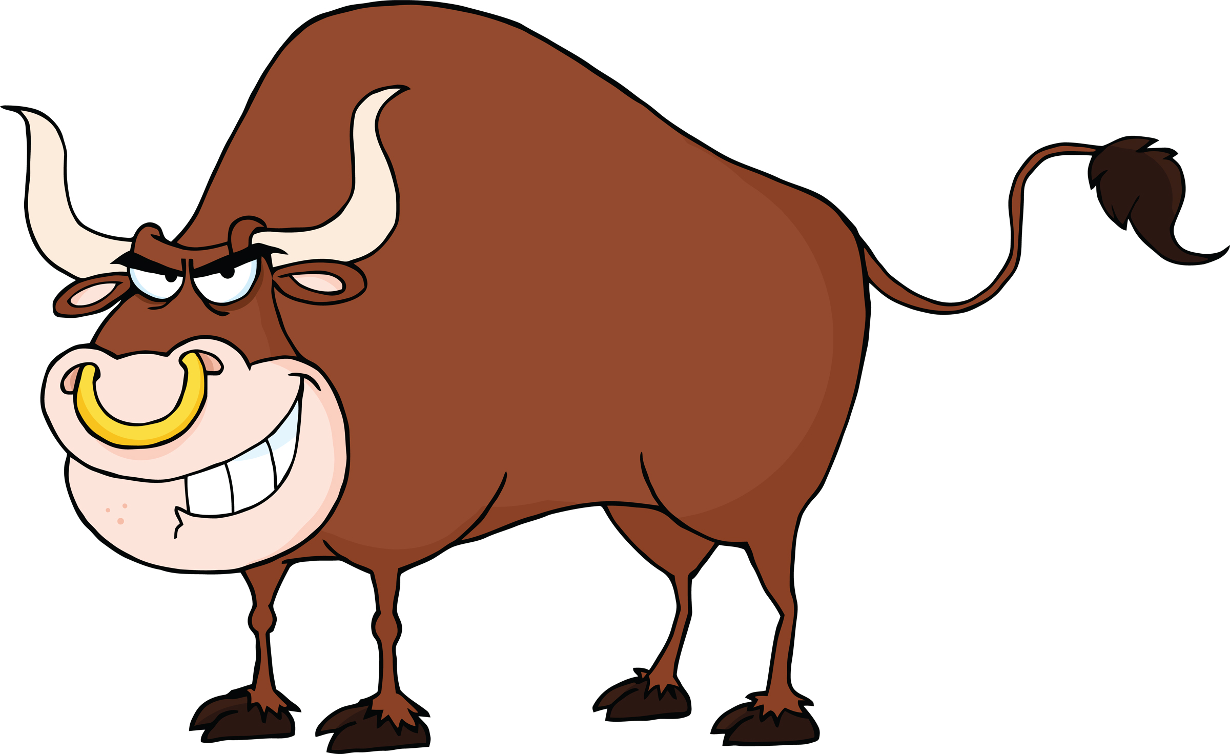 Cartoon bulls clipart.