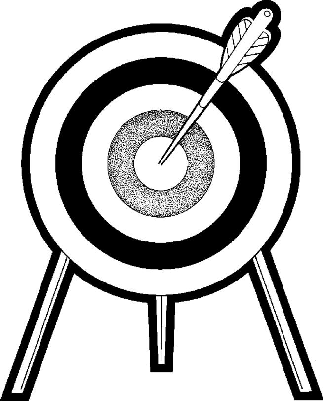 Bullseye clipart black white.