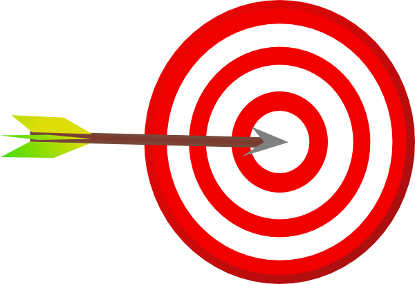 Arrow bullseye clipart.