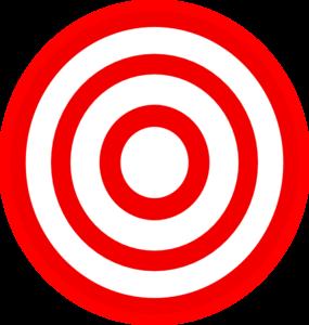 Powerpoint Cartoon Bullseye Clipart.