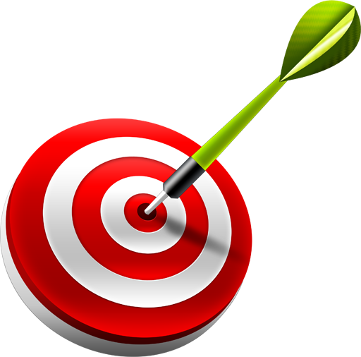 Bullseye, dart, target icon.
