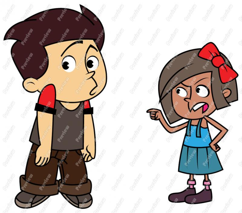 Bully Cartoon Clipart.