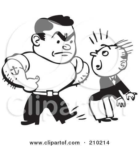 Bully clipart black and white, Bully black and white.
