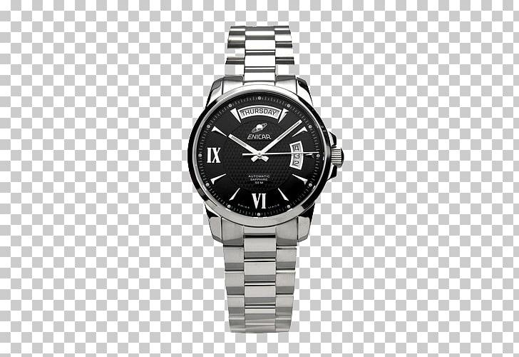 Clock Steel Tapestry Bulova Watch, Enicar automatic.