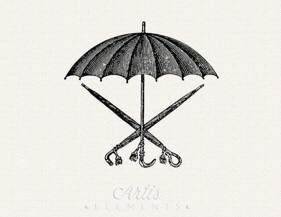 Antique Victorian Bumbershoot Umbrella.