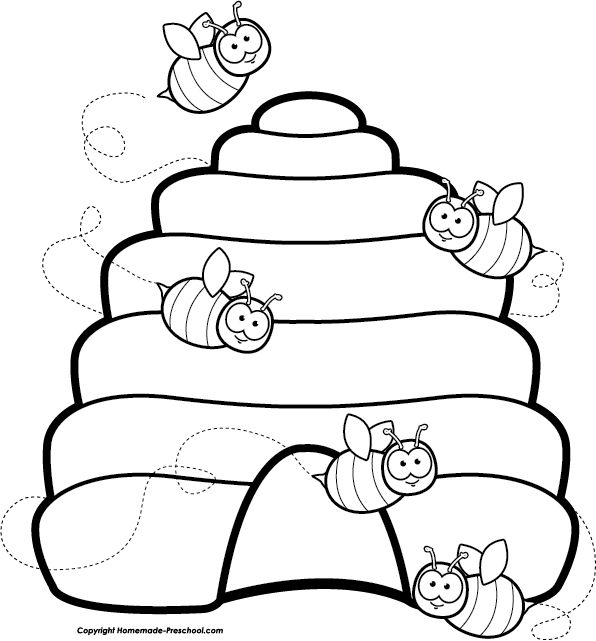 Beehive bee clipart ideas on bumble bee images cute 3.