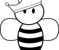 Bumble bee clipart black and white » Clipart Portal.
