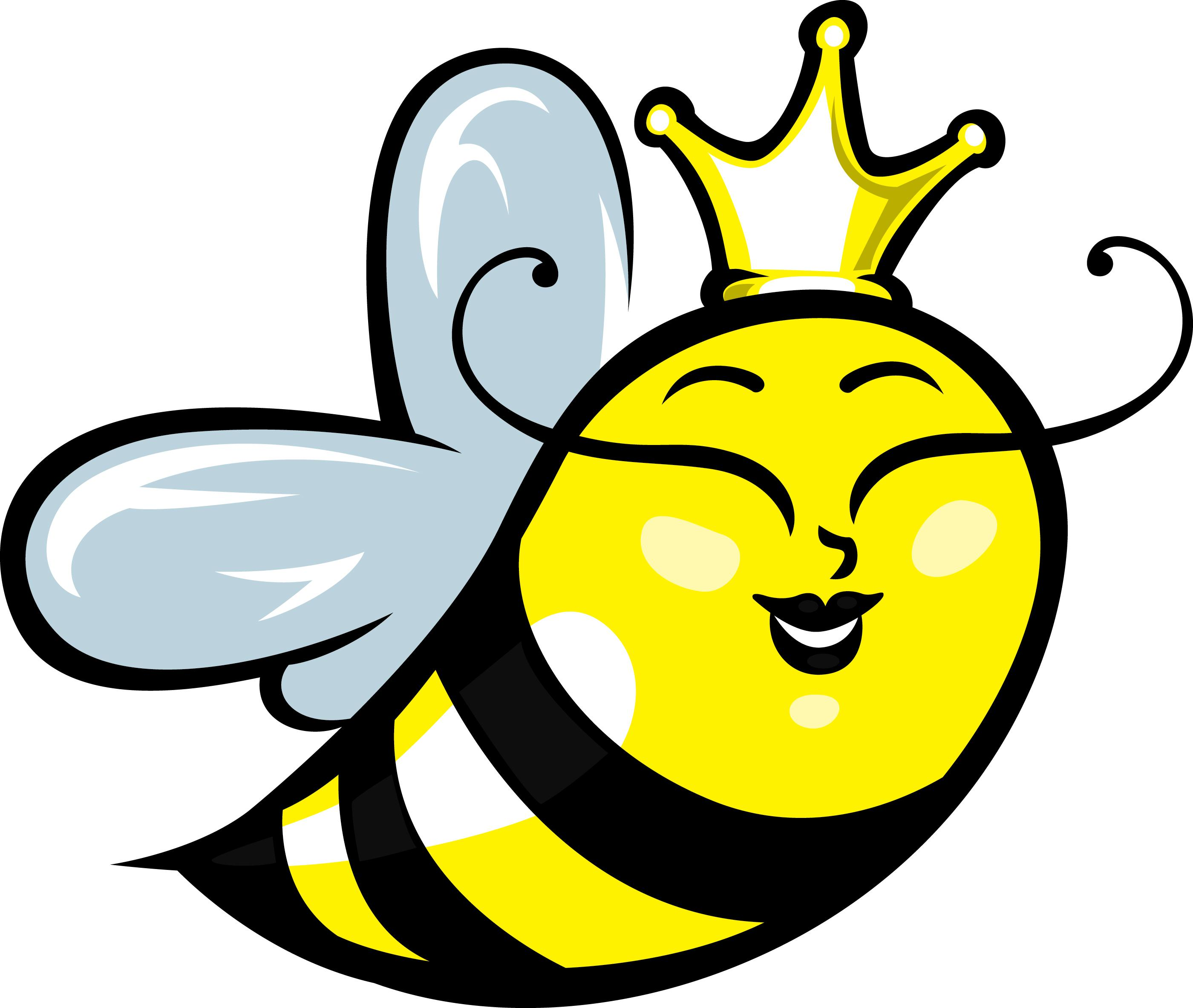 Girly bumble bee clipart.