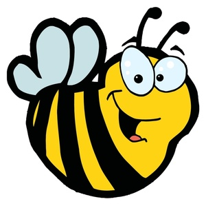 Buzzing bumble bee clipart.