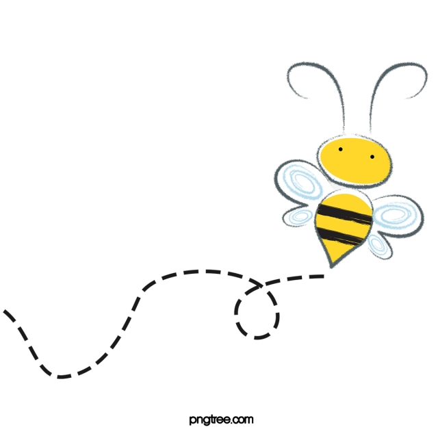 Bee Flying Clipart Fly Image And For Free Transparent Png.