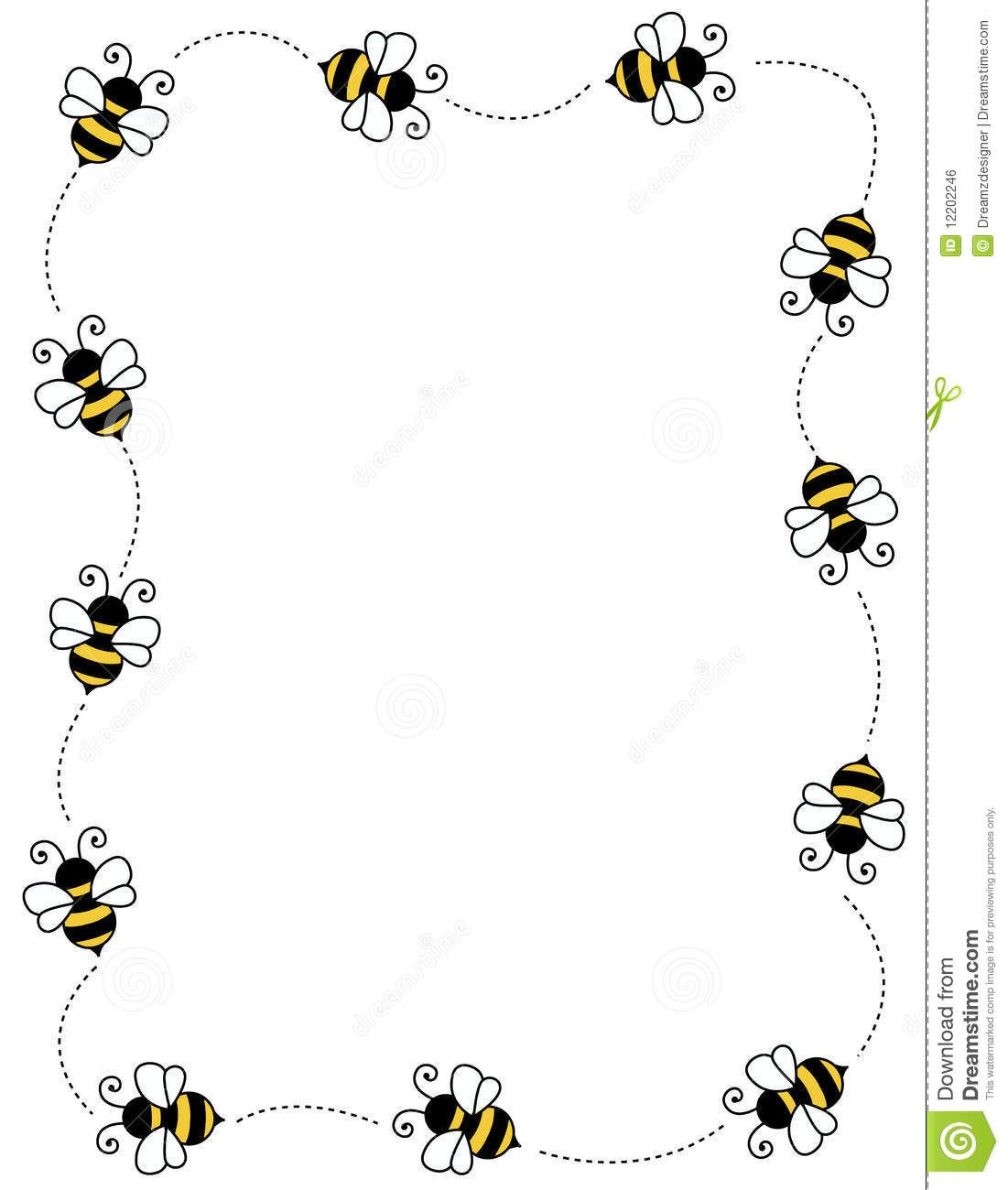 clip art frames with bumble bees.