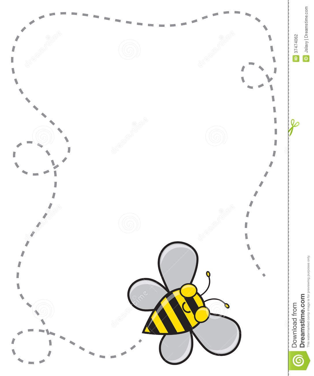 In Clipart Cartoon Bumble Bee Flying Trail Pencil And Color 1088.